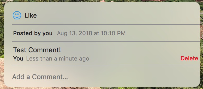 Deleting Comments in Photos on the Mac