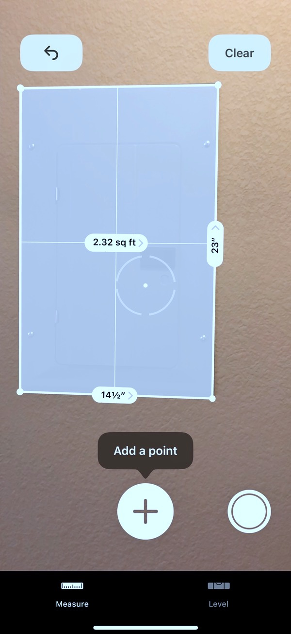 iOS 12 Measure app with Measurements on Fuse Box