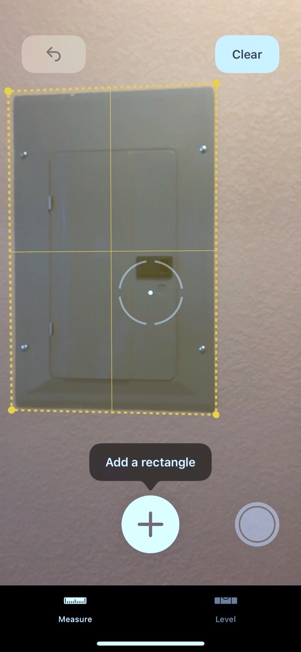 iOS 12 Measure app Measuring Rectangle
