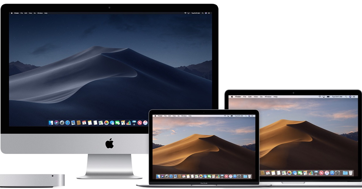 Apple's Mac family with macOS Mojave