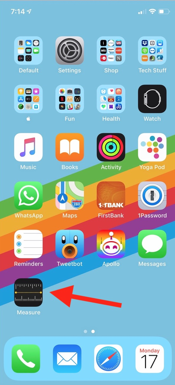 iOS 12 Measure App on iPhone