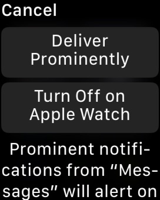 """""""Deliver Prominently"""" for Notifications on Apple Watch"""