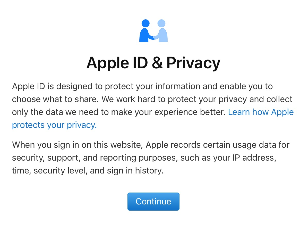 Apple ID & Privacy Warning