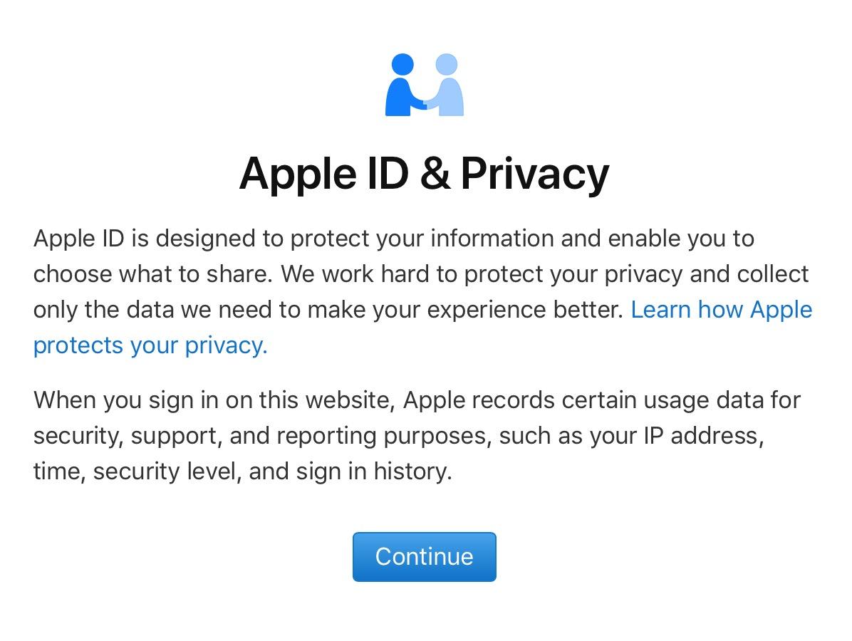 Apple ID & Privacy Warning