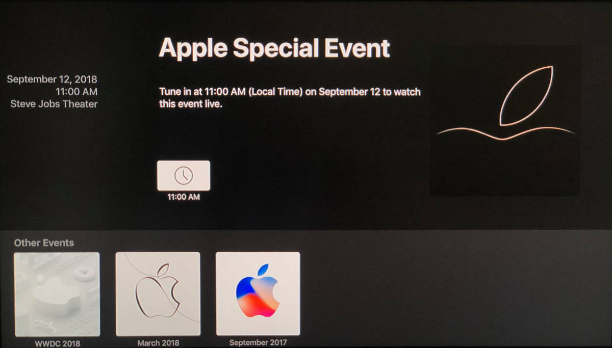 Apple TV Events app with Gather Round