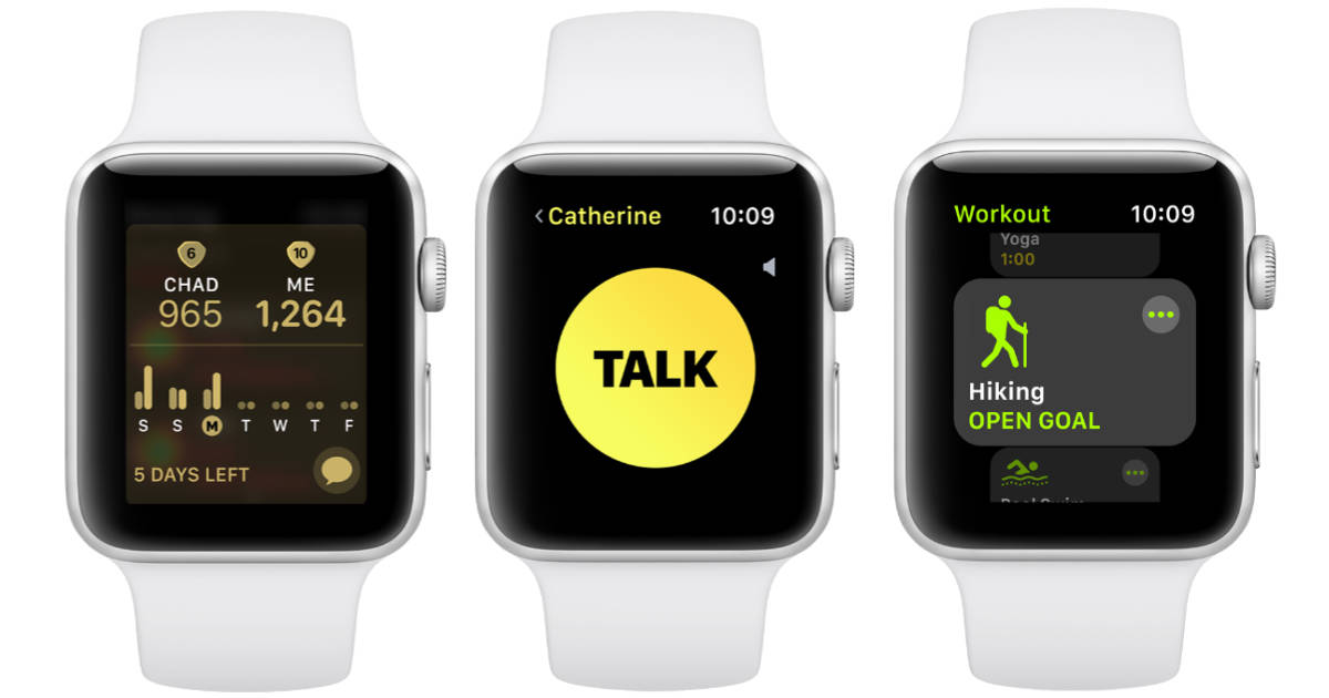 watchOS 5 on Apple Watch