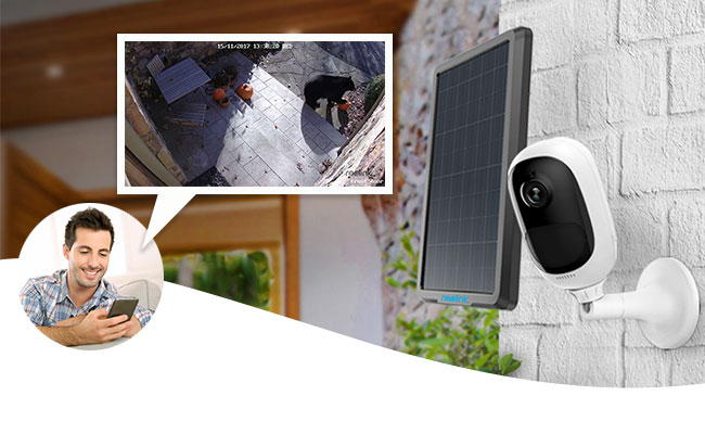 This wireless, rechargeable security camera also works with solar panels