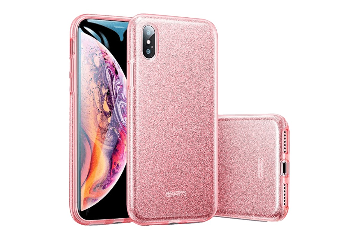 The ESR glitter case in our roundup of iPhone XS Max cases.