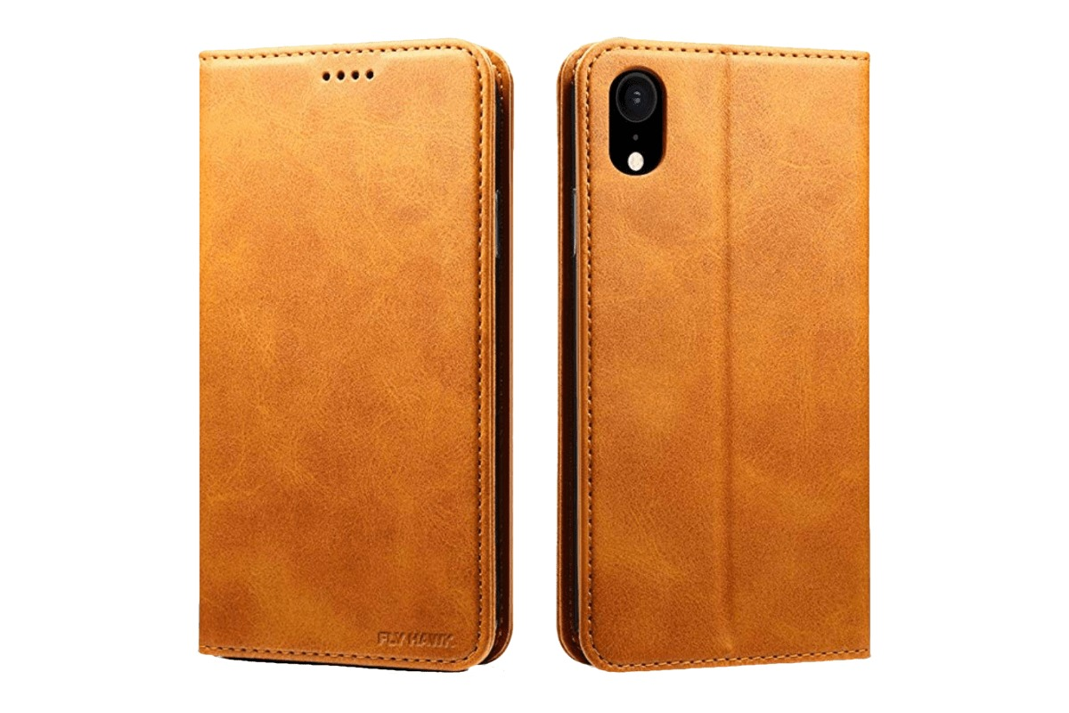 Fly Hawk leather wallet case in our roundup of iPhone XS Max cases.