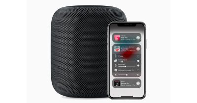 HomePod and iOS 12 Control Center on iPhone X