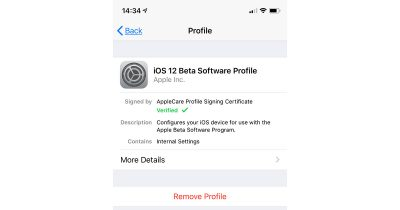 Remove Beta Profile