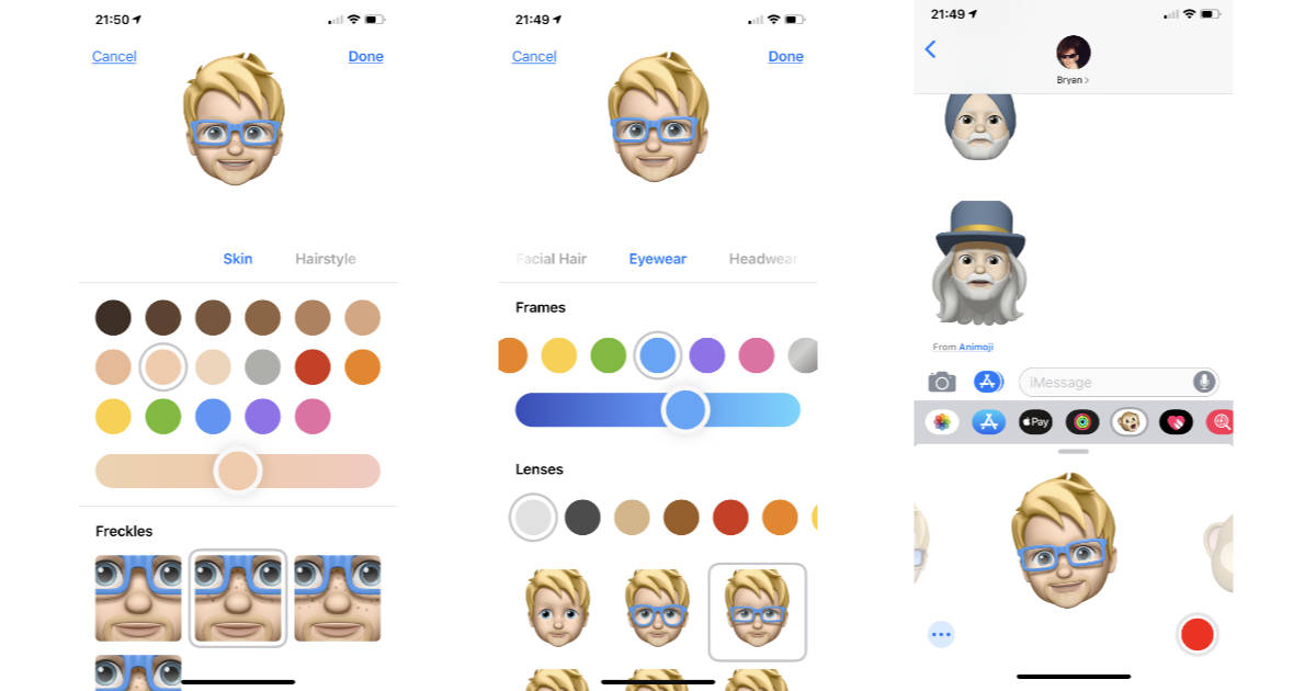 iOS 12 Memoji on iPhone