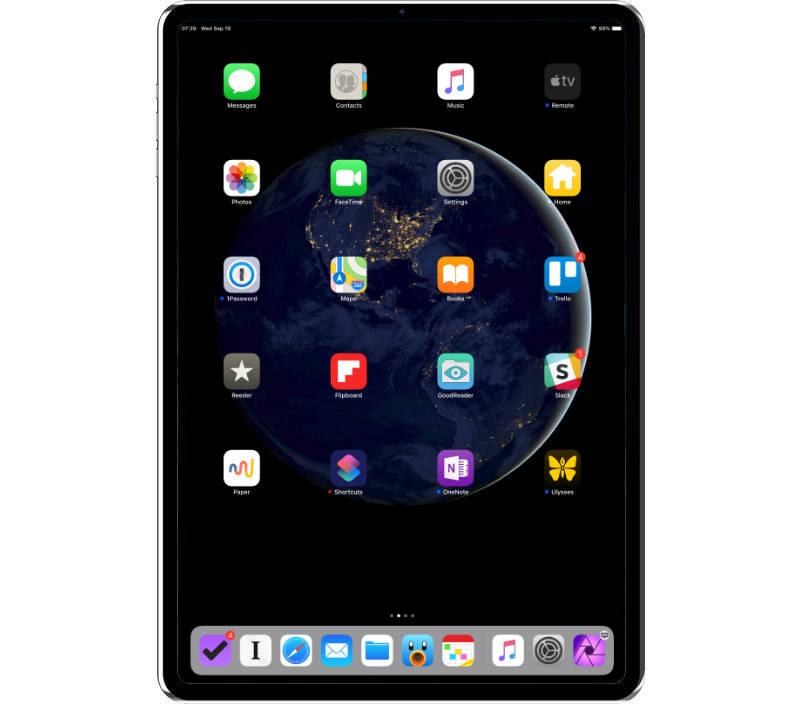 iPad Pro with thin bezel and Face ID