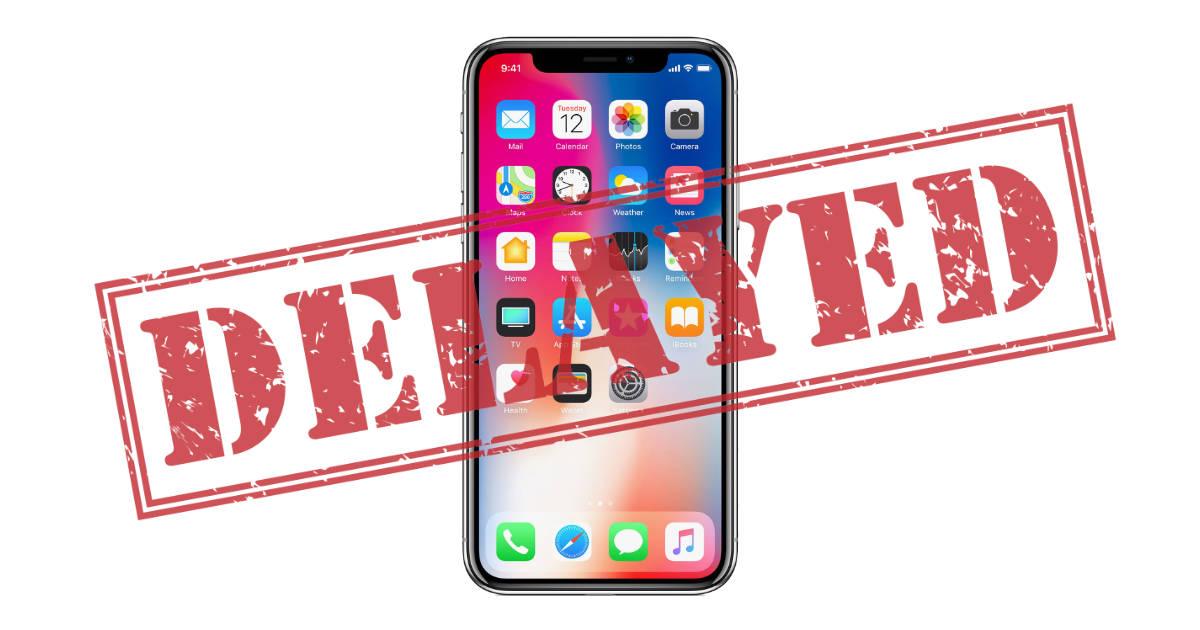 iPhone delayed