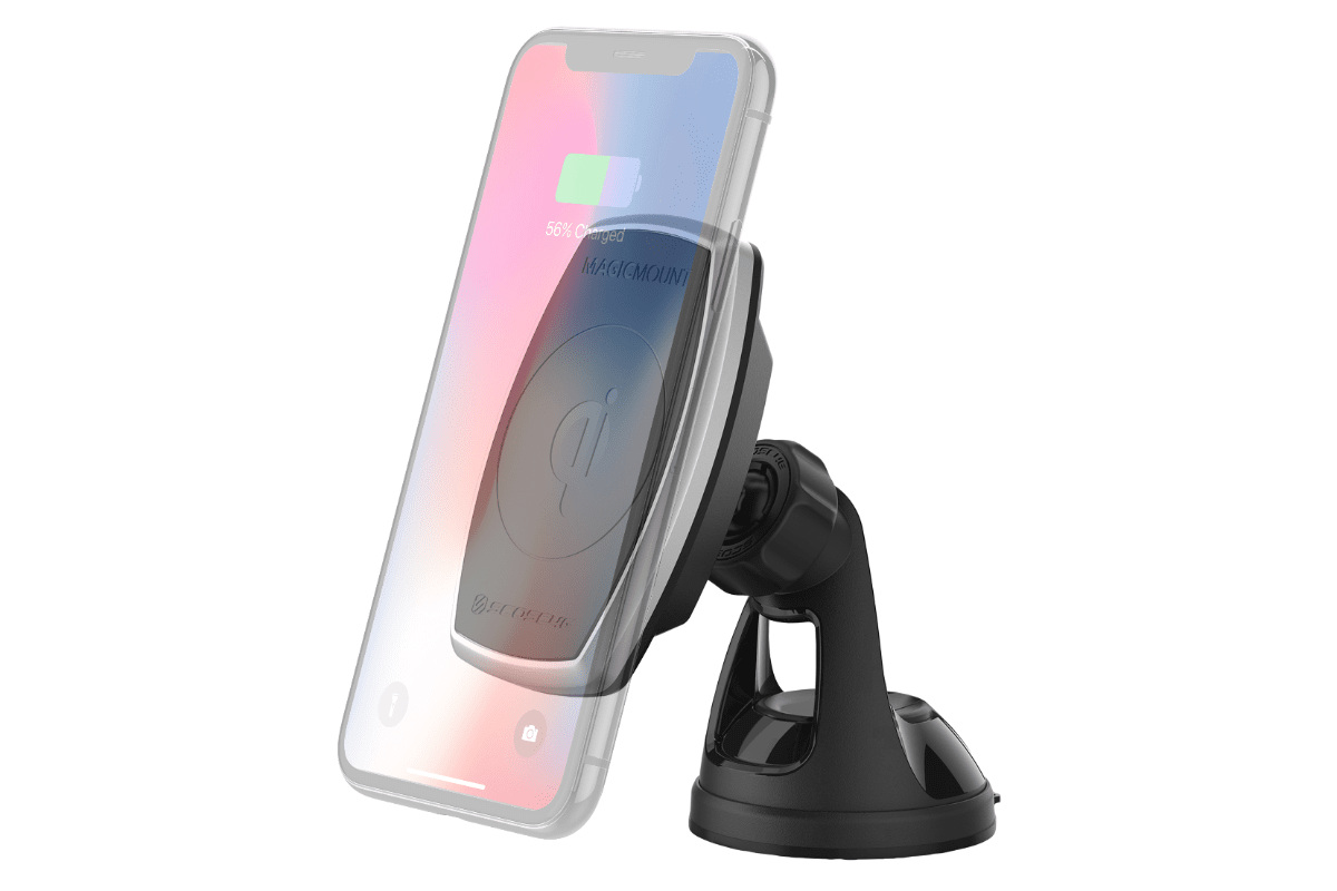 Image of MagicMount stand in our roundup of iPhone Xs USB-C accessories.