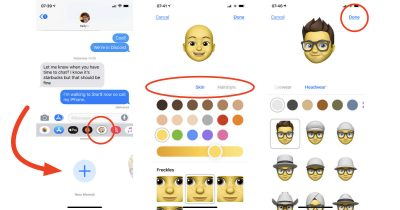 Making a Memoji in iOS 12 Messages on iPhone X