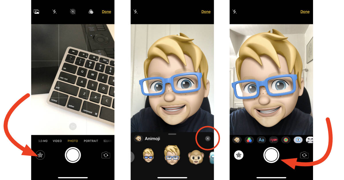 Memoji camera effect in iOS 12 Messages on iPhone