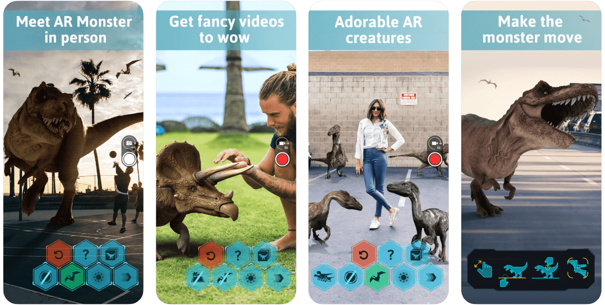 Screenshots of monster world in our roundup of iOS 12 AR apps.