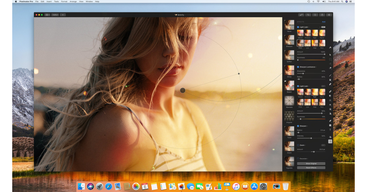 Pixelmator Pro, Bokeh, Light Leak effects on sale for $ 29.99