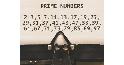 Prime numbers on a typewriter