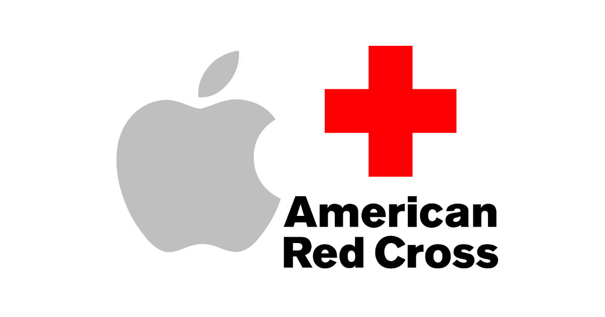 American Red Cross and Apple logos