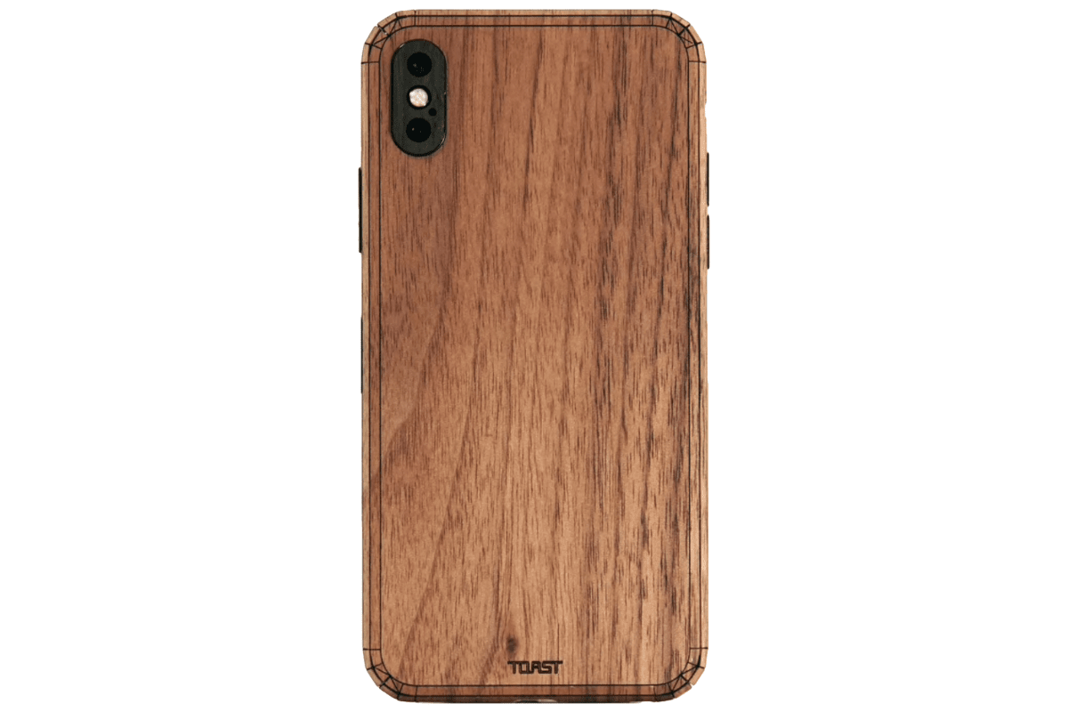 Image of a wooden Toast case in our roundup of iPhone XR cases.