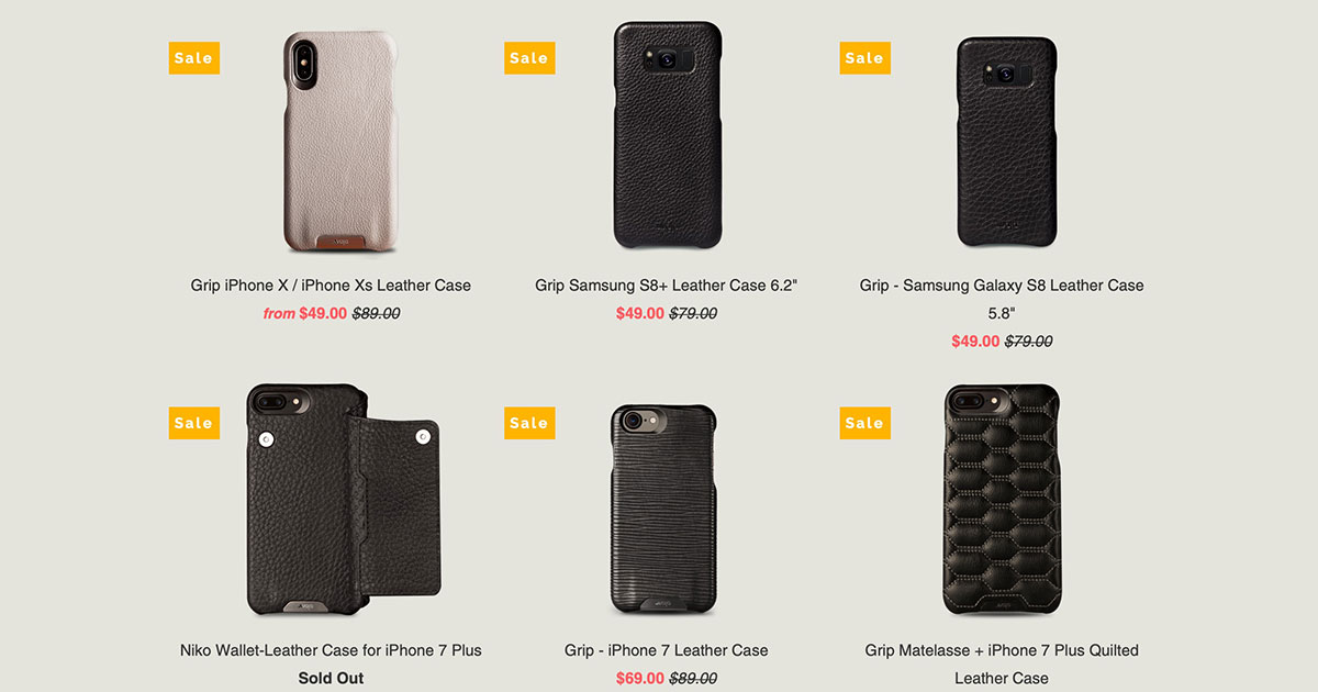 Vaja Leather iPhone Cases on Sale