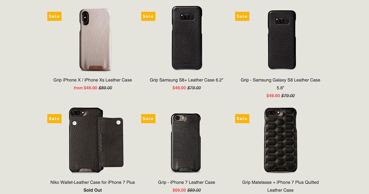 Vaja Leather iPhone Cases on Sale
