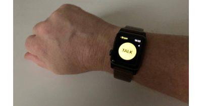 Walkie Talkie app on Apple Watch