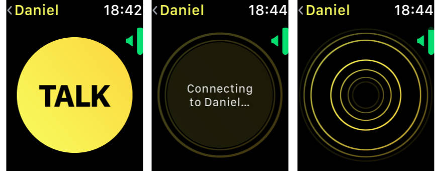 Walkie Talkie voice chat on Apple Watch in watchOS 5