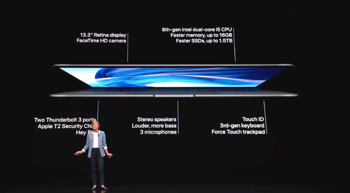 2018 MacBook Air features.
