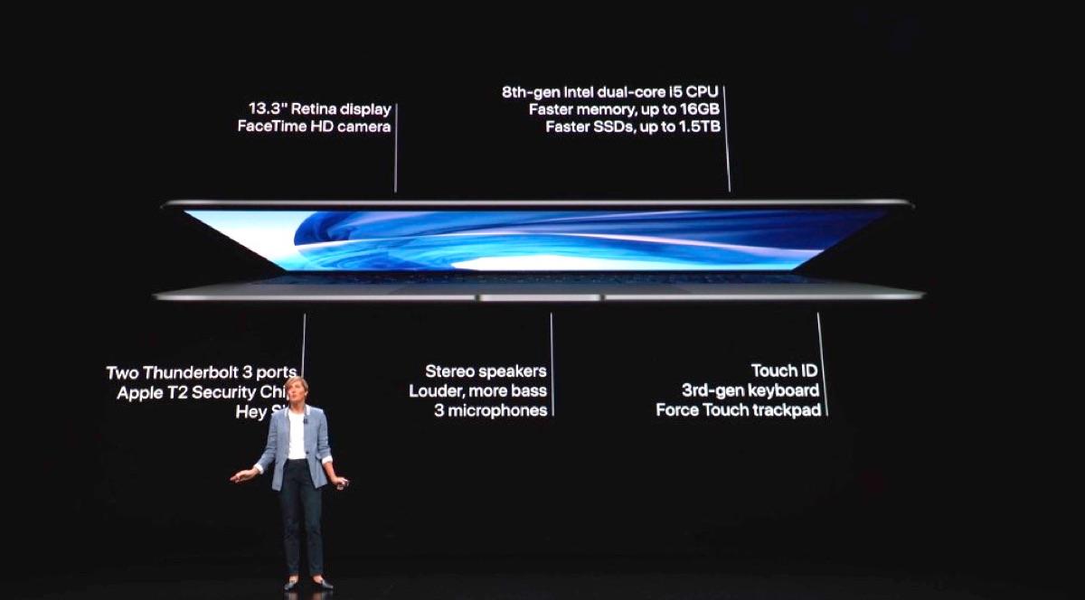 2018 MacBook Air features.