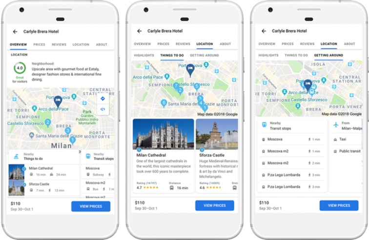 Google Flights on iOS