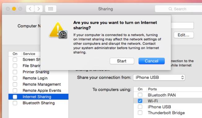 Internet Sharing
