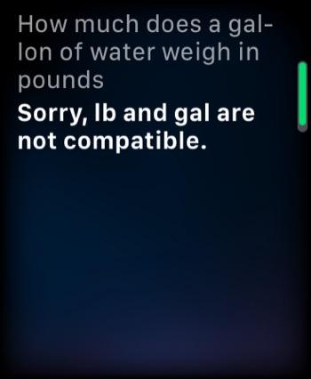 A physics conversion question for Siri.