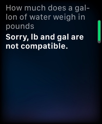 A physics conversion question for Siri.