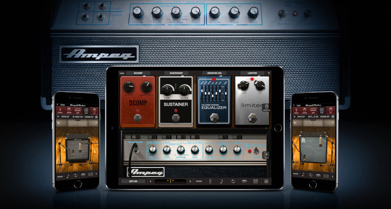 AmpliTube Adds Ampeg Collection 2 with 3 Amps and Cabinet Models for iOS