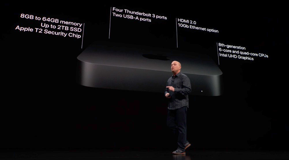 """Apple introduces Mac mini 2018 at the """"There's More in the Making"""" media event"""