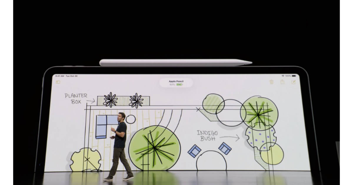 Second generation Apple Pencil with iPad Pro