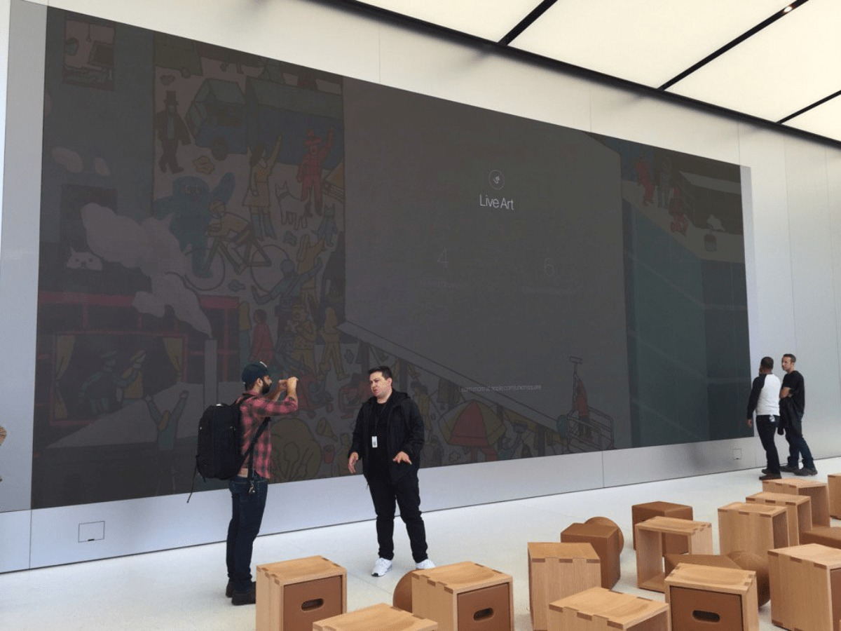 image of apple retail video wall
