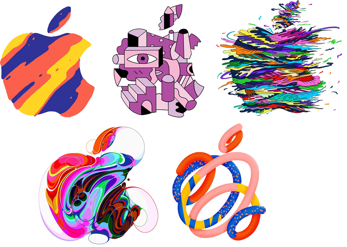 """Apple logos promoting the """"There's more in the making"""" media event"""