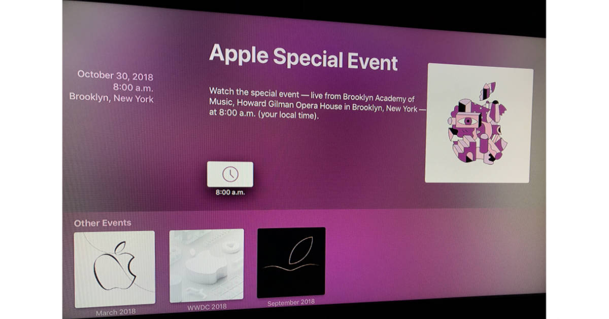 "Apple TV Events app with ""There's More in the Making"" media event"