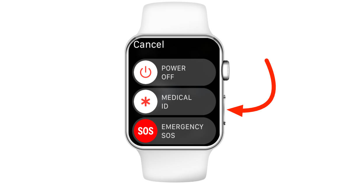Apple Watch power off option