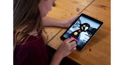 Everyone Can Create educational program on iPad