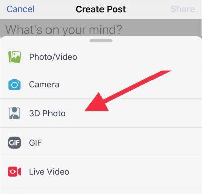 Facebook iPhone 3D Photo