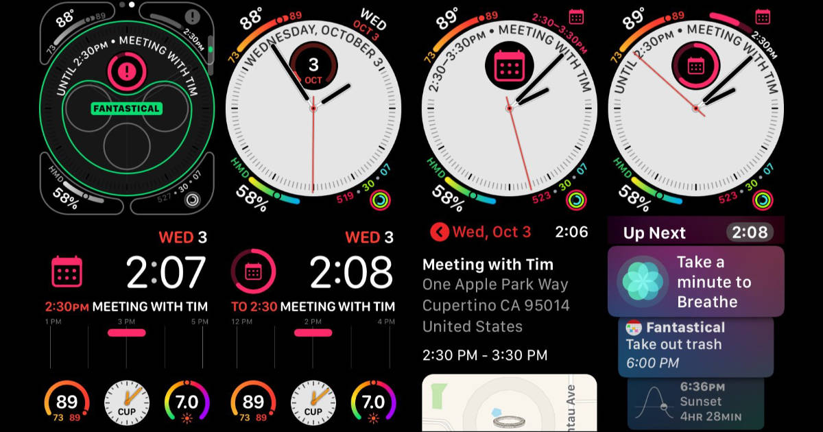 Fantastical 2 Gets Apple Watch Series 4 Infograph Complications