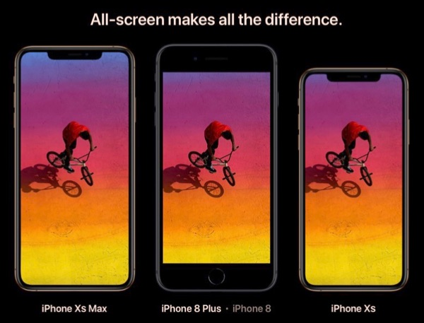 iPhone XS Max, 8 Plus, and X