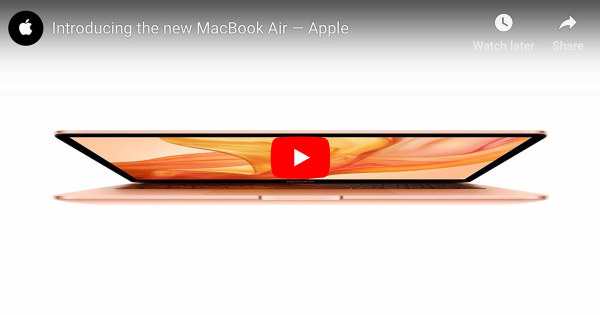 Screenshot from Apple's Introducing the New MacBook Air video