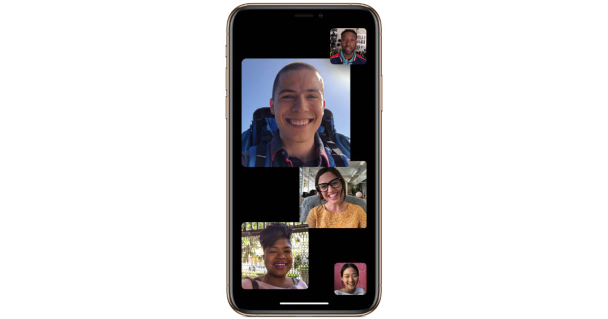 Group FaceTime in iOS 12.1 on iPhone XS