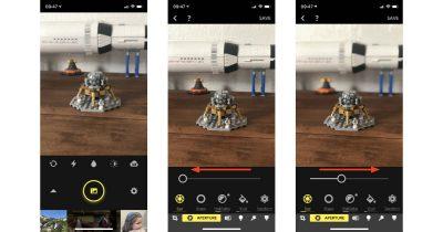 Focos adjustable depth of field camera app on iPhone